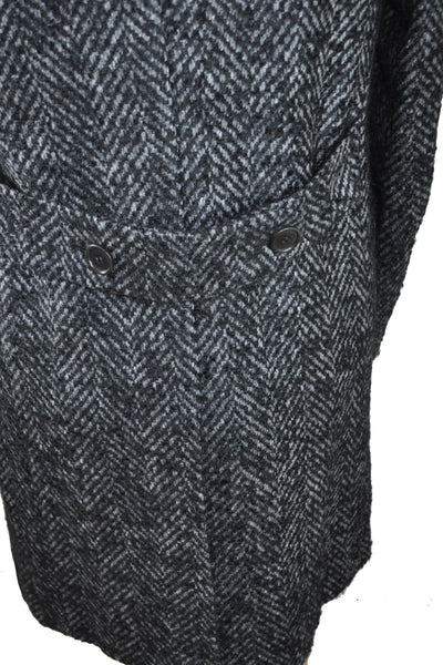 Kiton Winter Coat Charcoal Gray Wool Mohair Alpaca Overcoat EUR 50 / US 40 SALE