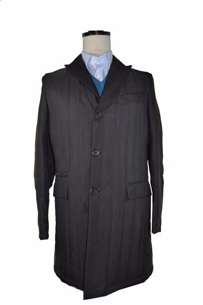 Kiton Coat Gray Silk Cashmere