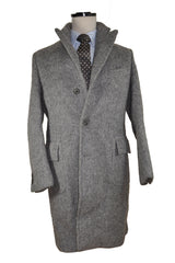 Kiton Wool Over Coat Charcoal Gray