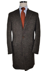 Kiton Wool Coat Black Gray Brown Herringbone Jacket Cipa 1960 EUR 50/ US 40
