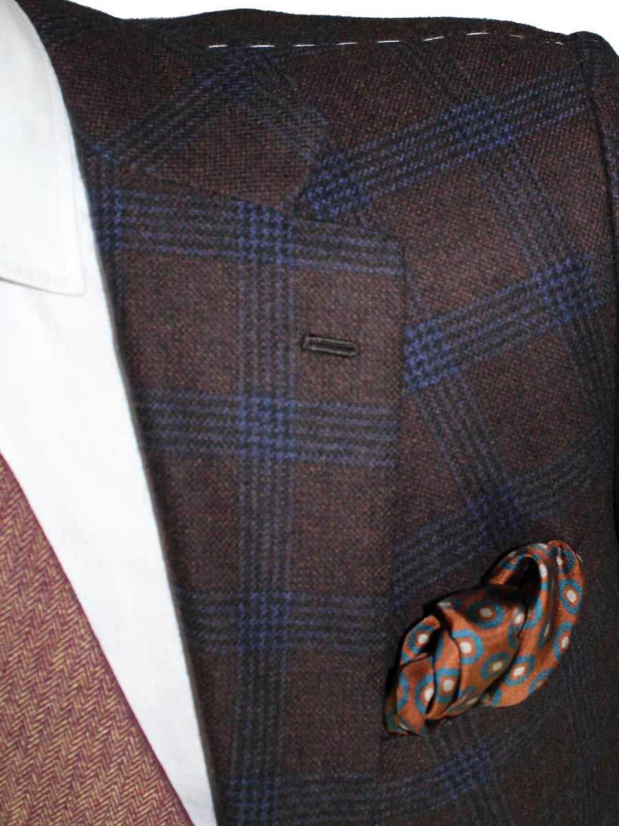 Kiton Cashmere Sport Coat Brown Windowpane Guanaco