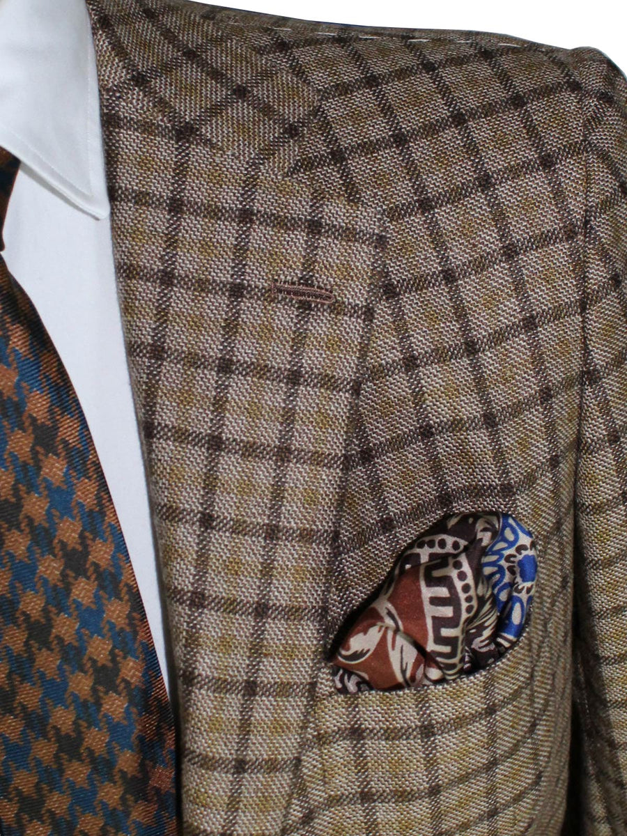 Kiton Sport Coat Brown Check LASA Cashmere