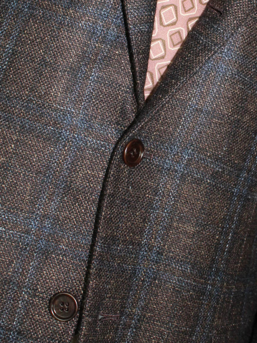 Kiton Sport Coat Dark Brown Plaid Cashmere Vicuña