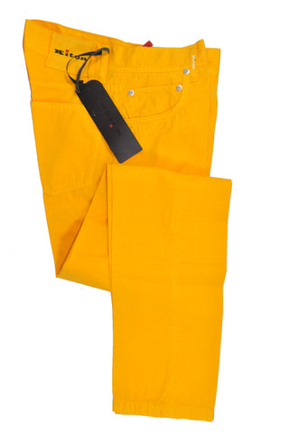 Kiton Pants Orange Slim Fit 5 Pocket 31 SALE