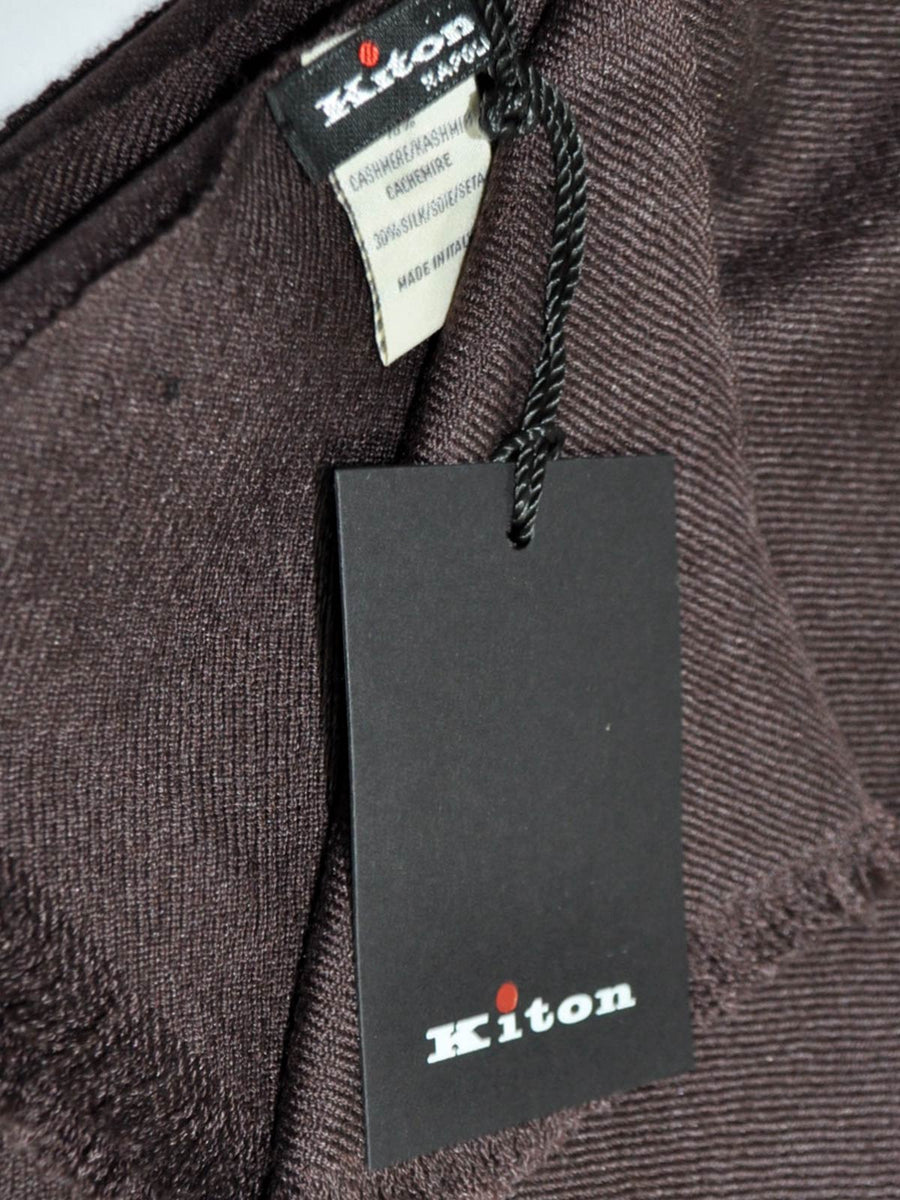 Kiton Cashmere Silk Scarf Dark Brown SALE