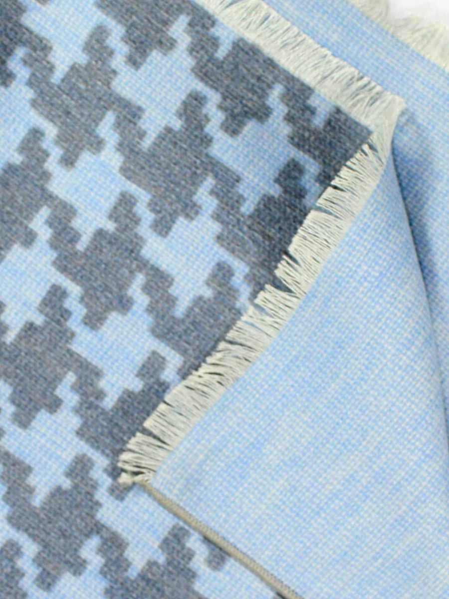 Kiton Silk Scarf Sky Blue Gray
