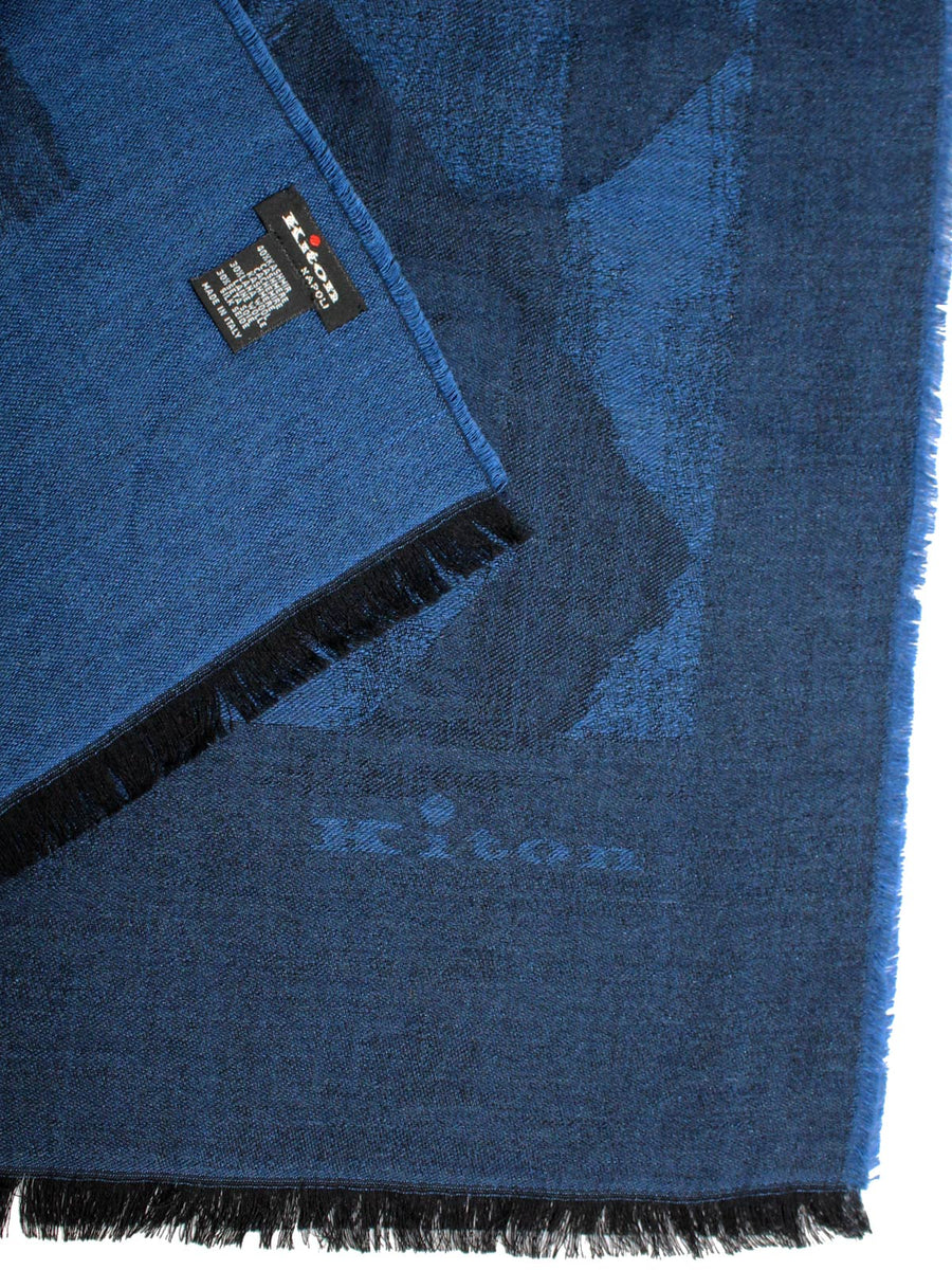 Kiton Scarf Royal Blue Navy SALE