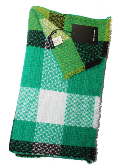 Kiton Cashmere Scarf Green Patch New