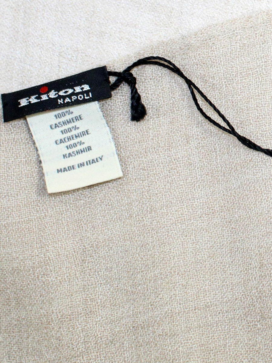 Kiton Cashmere Scarf Solid Beige