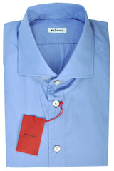 Kiton Men Dress Shirt Blue Solid