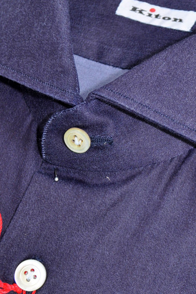 Kiton Shirt Midnight Purple
