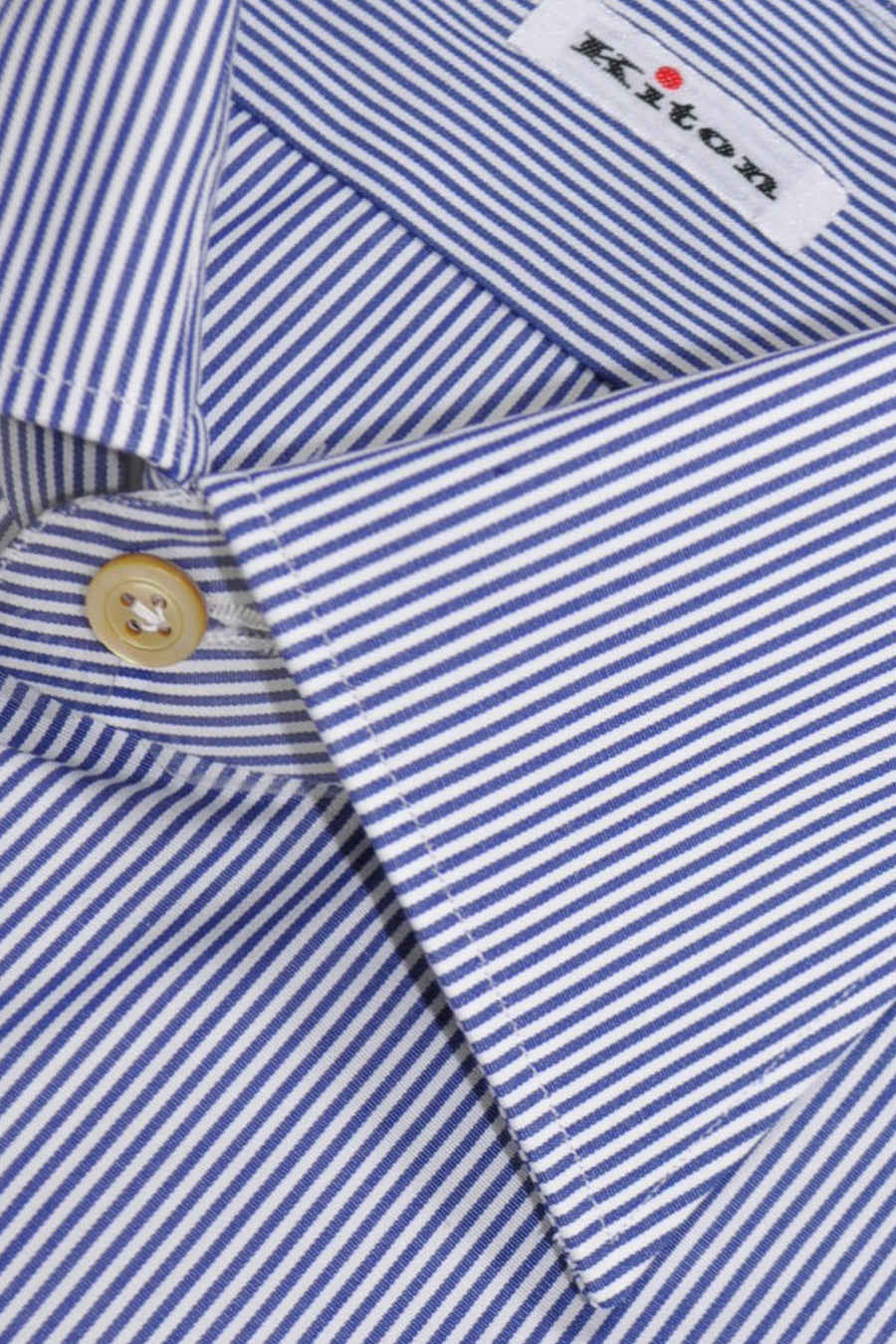 Kiton Dress Shirt White Navy