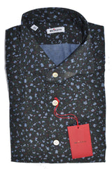 Kiton Shirt Black Flowers