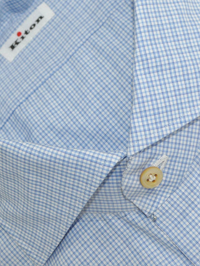 Kiton Dress Shirt White Blue