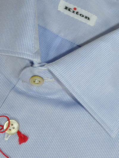 Kiton Dress Shirt Lavender Blue 46 - 18 1/2