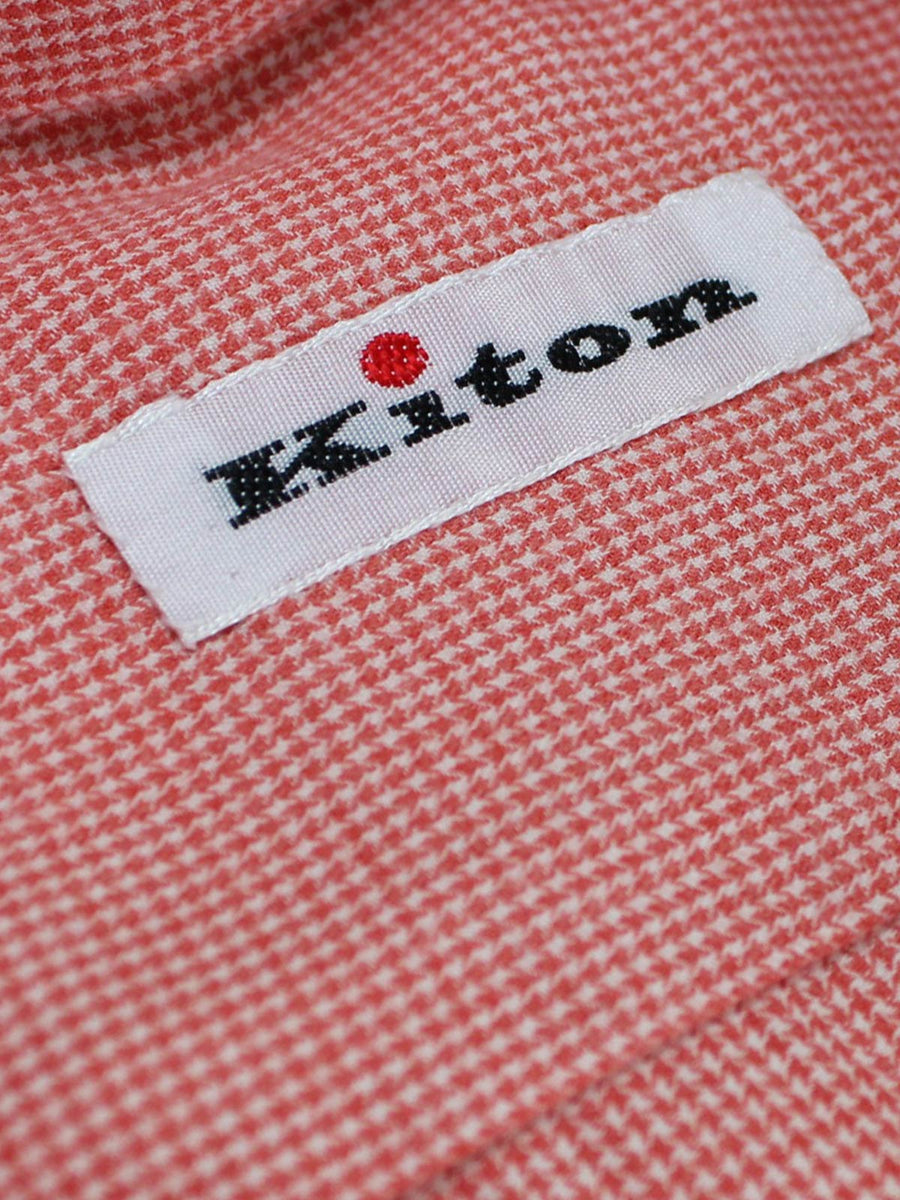 KitonMini Houndstooth Sartorial Dress Shirt