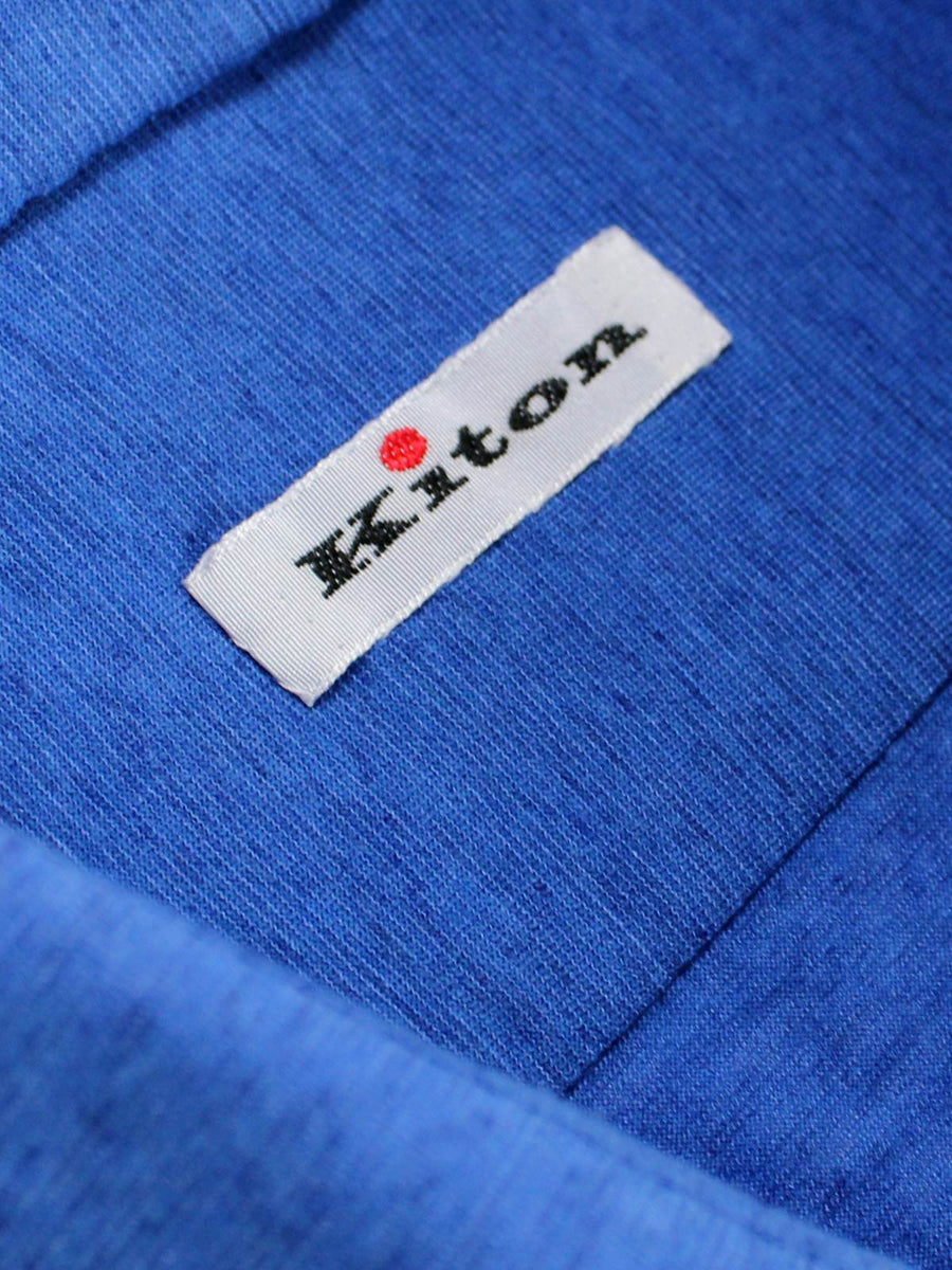 Kiton Shirt Royal Blue Sartorial Dress Shirt