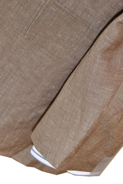 Kiton Sportcoat Linen Wool Taupe Brown Blazer EUR 54 - US 42/43 L - REDUCED - SALE