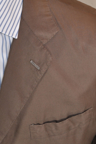 Kiton Sportcoat Brown Cotton Blazer EUR 52 / US 41/42 - SALE