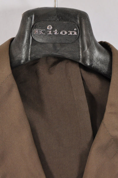 Kiton Sportcoat Brown Cotton Blazer Hanger