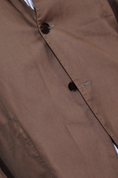 Kiton Sportcoat Brown Cotton Blazer Buttons