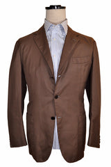 Kiton Sportcoat Brown Cotton Blazer