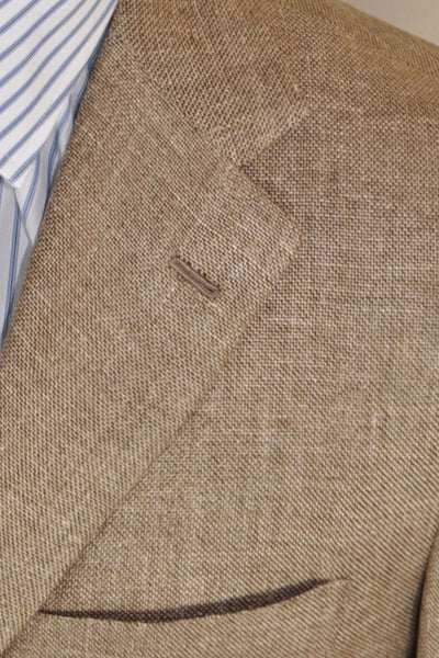 Kiton Sportcoat Brown Gray Cream Genuine