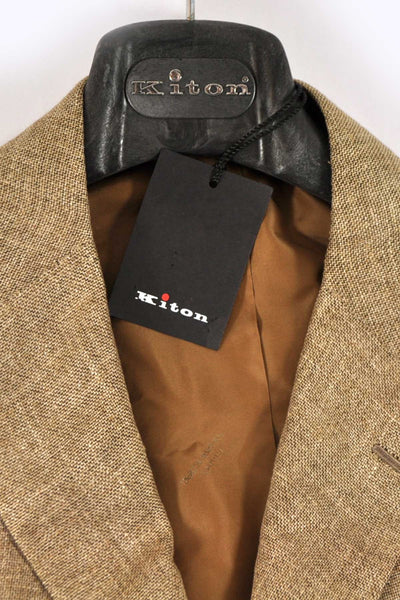 Kiton Sportcoat Cashmere Linen Brown Gray Hanger