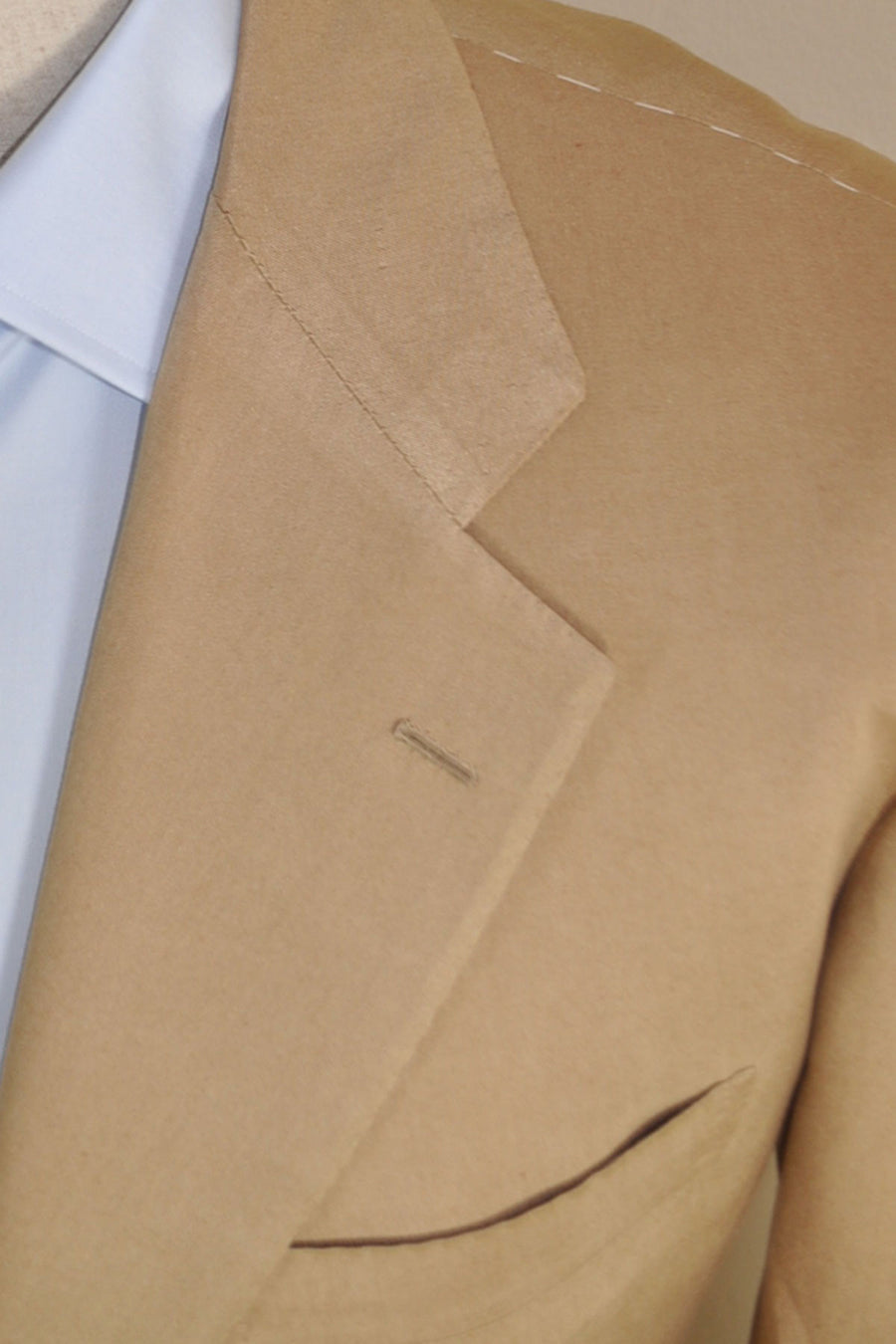 Kiton Suit Camel Cotton Silk EUR 54/ US 43/44 R - SALE