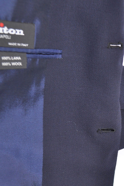 Kiton Sport Coat Navy Wool Wafer Fabrics EUR 50 / US 40 SALE