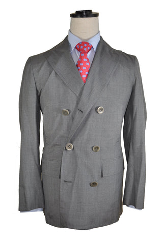 Kiton Silk Sport Coat Unlined Charcoal Gray Jacket EUR 48 / US 38