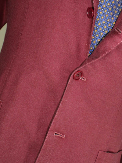 Kiton Sport Coat  Cranberry Pink Unlined Blazer