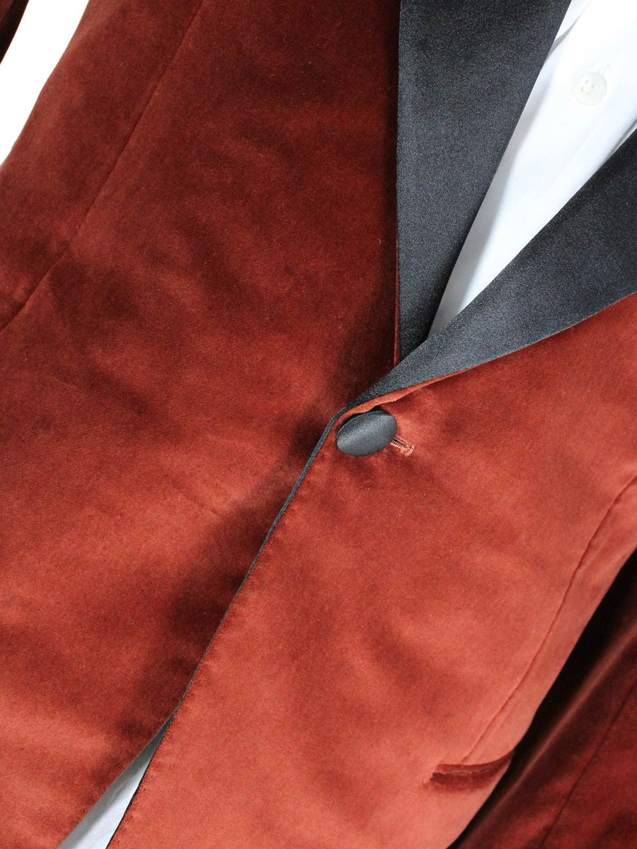 Kiton Blazer Black Brown Velvet Tuxedo Jacket