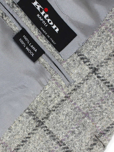 Kiton Sport Coat Gray Windowpane Wool Blazer Cipa 1960 EUR 49/ US 39 SALE