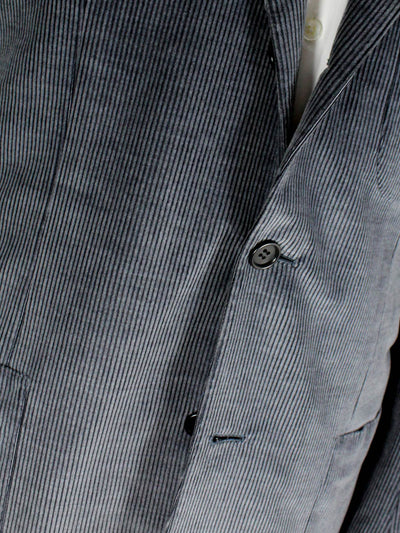 Kiton Sport Coat Midnight Blue Corduroy New