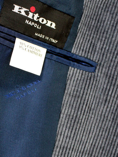 Kiton Sport Coat Midnight Blue Corduroy