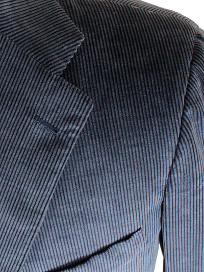 Kiton Sport Coat Midnight Blue Corduroy Cotton Cashmere