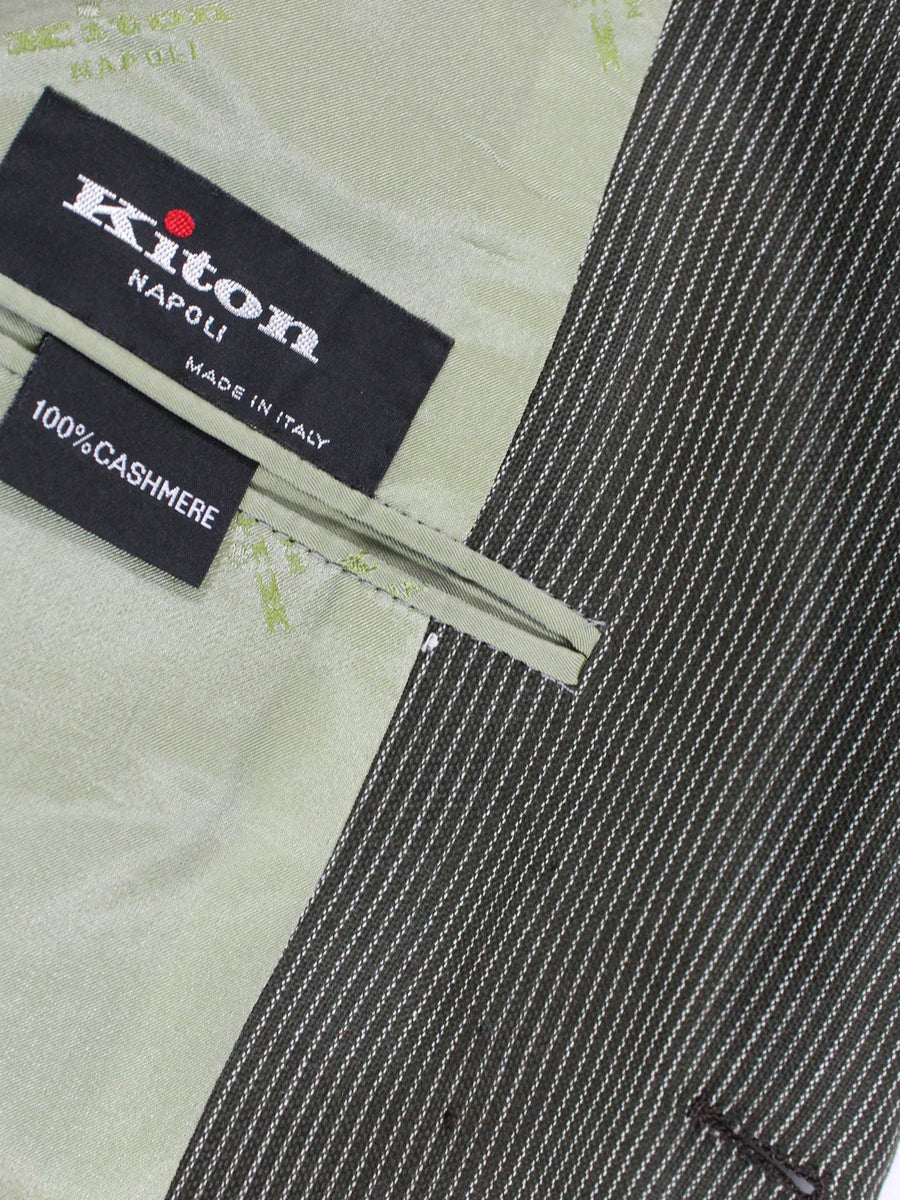 Kiton Sport Coat Gray-Green Stripes