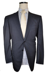 Kiton Suit Gray Stripes 14 Micron 58 EUR / 56 US