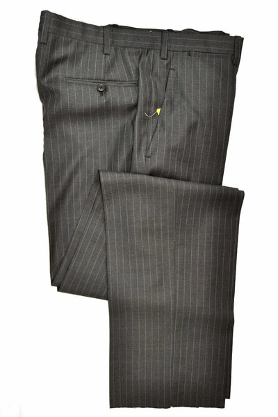 Kiton Suit Gray Stripes EUR 54 - US 44 Wool Pants