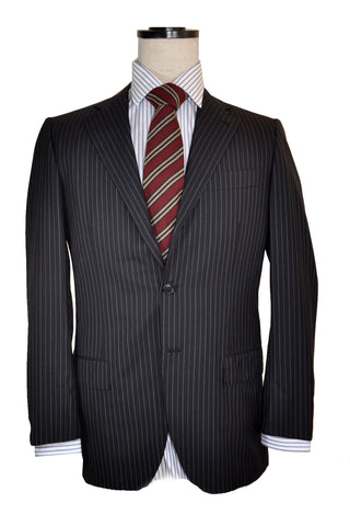 Kiton Suit Gray Stripe EUR 50/ US 40