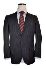 Kiton Suit Gray Stripe