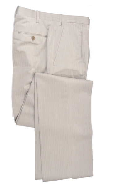 Kiton Suit Light Gray Stripes Pants