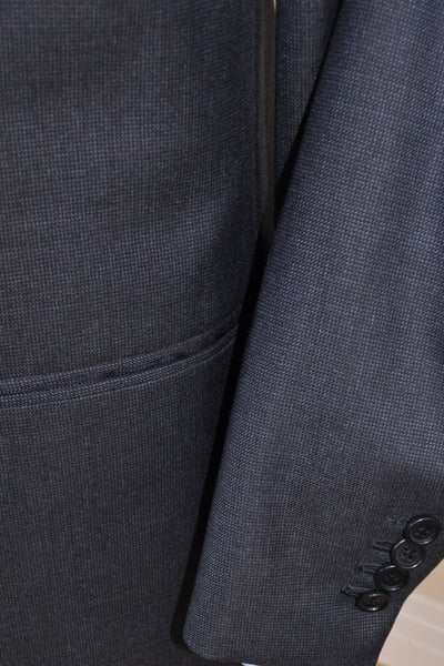 Genuine Kiton suit with dark gray/ midnight blue