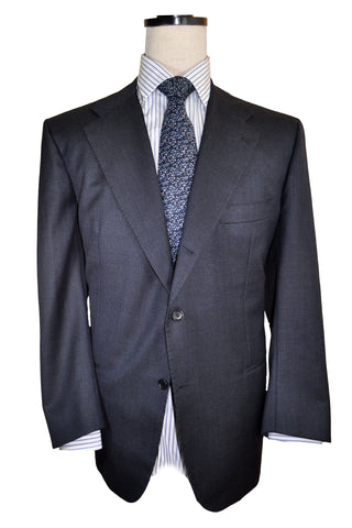 Kiton Suit Gray Midnight Blue Gray 58 EUR / 46 US Short SALE