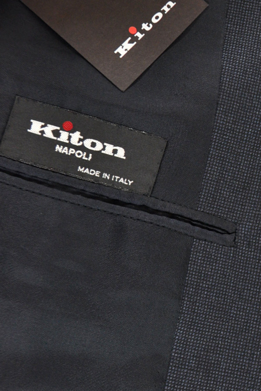 Kiton Suit Gray Midnight Blue Gray