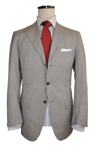 Kiton Suit Gray Wool Diamante Blu Super 150's EUR 50/ US 40 R