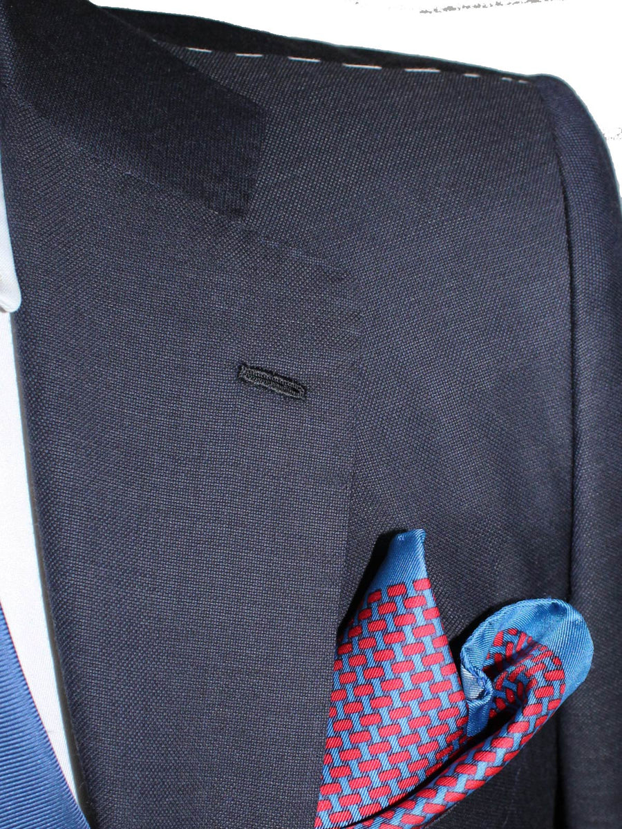 Kiton Suit Midnight Blue Gray 14 Micron