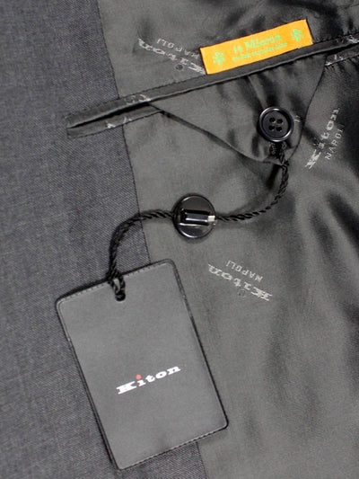 Kiton Suit Charcoal Gray 14 Micron Wool 180's EUR 54 - US 43