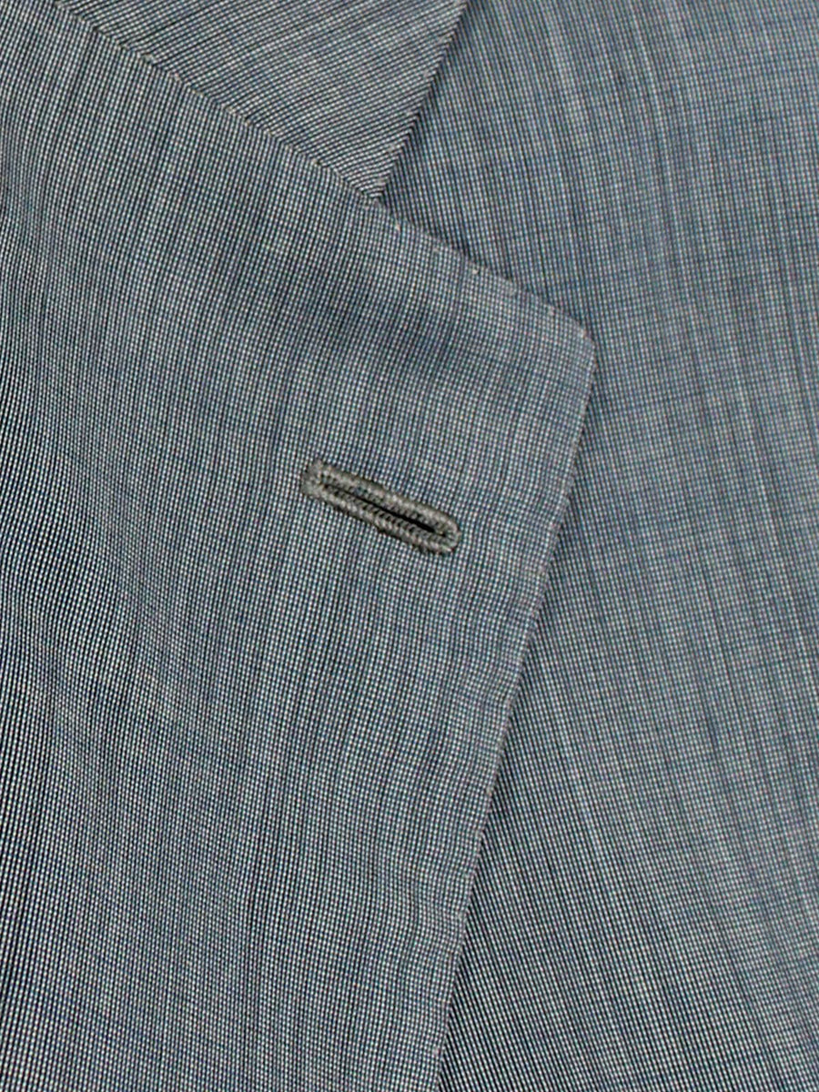 Kiton Suit Gray Blue 14 Micron Wool